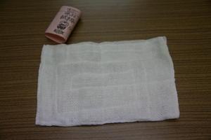 ガラ紡績でできた雑巾