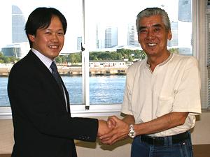 木村さんとの握手